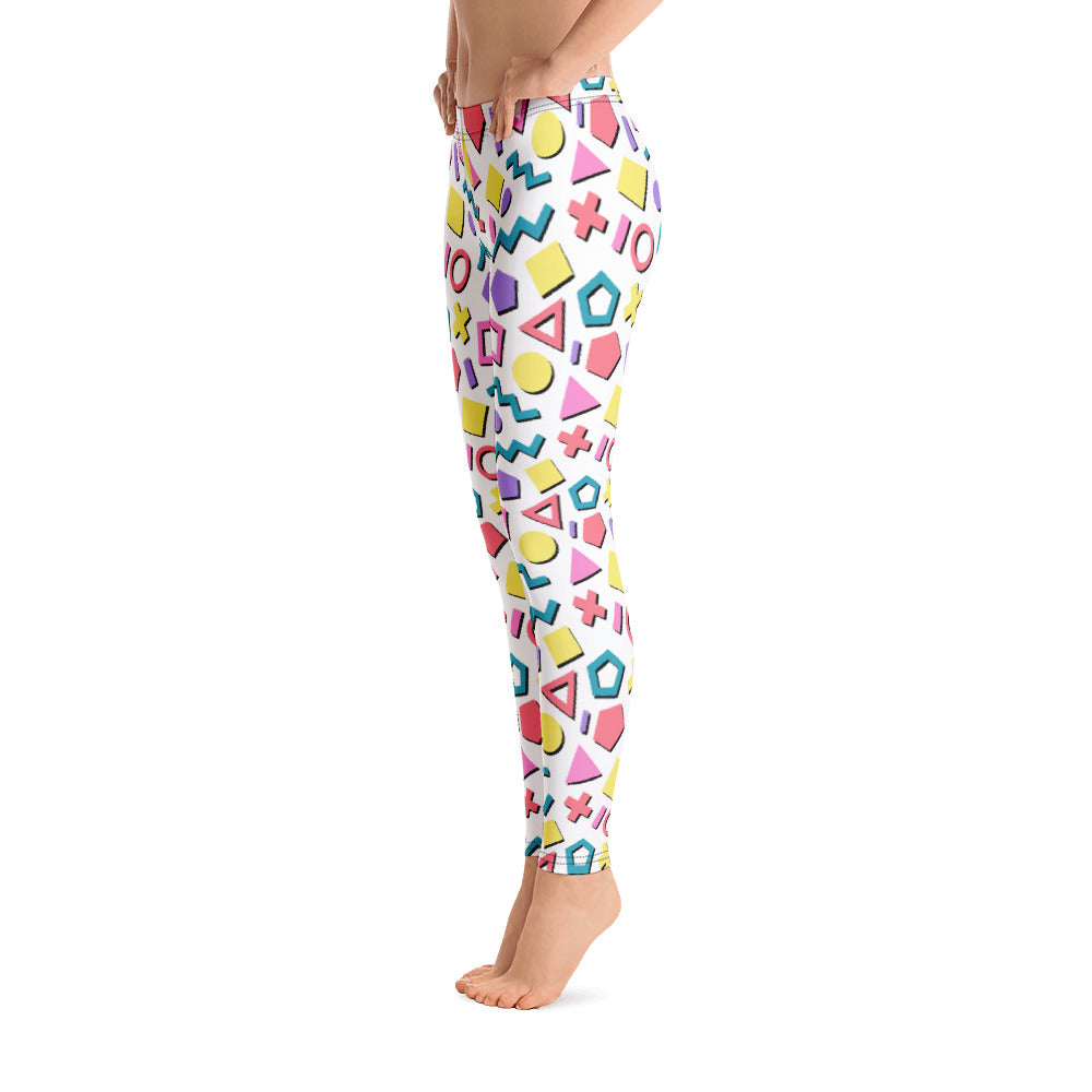 Geo Gay Leggings - Royal Rainbow
