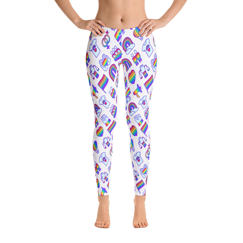 Pride Leggings - Royal Rainbow