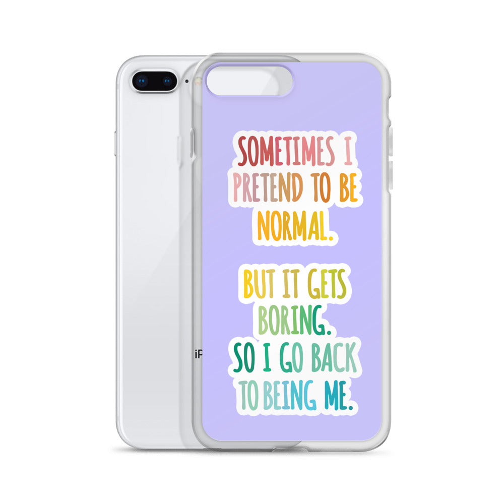 Normal Is Boring iPhone Case - Royal Rainbow