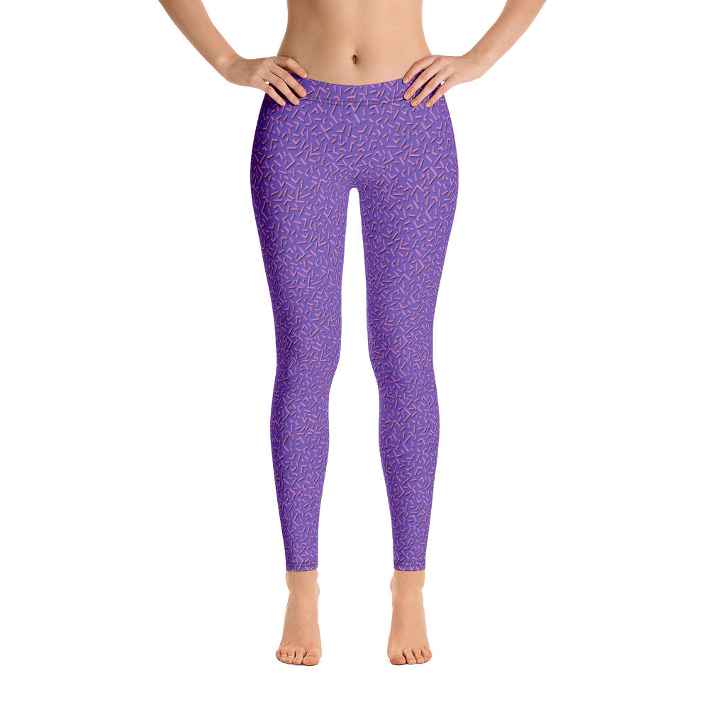 Purple People Eater Leggings - Royal Rainbow