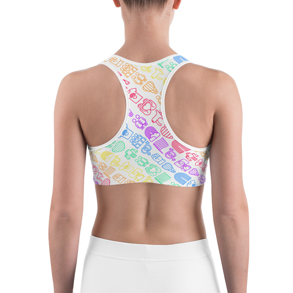 Royal Rainbow Sports Bra - Royal Rainbow