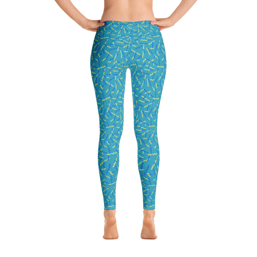 Green Dizzy Leggings - Royal Rainbow