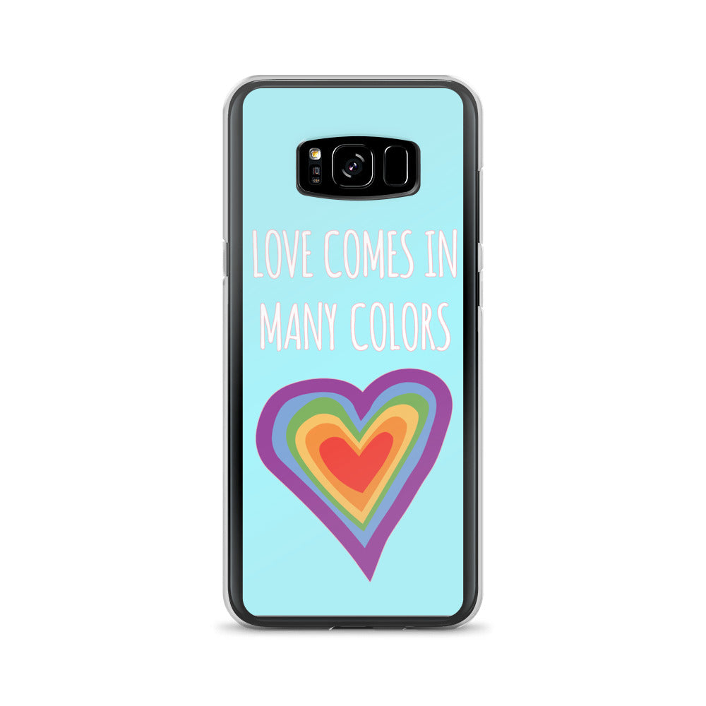 """Love Comes In Many Colors"" Samsung Case - Royal Rainbow"
