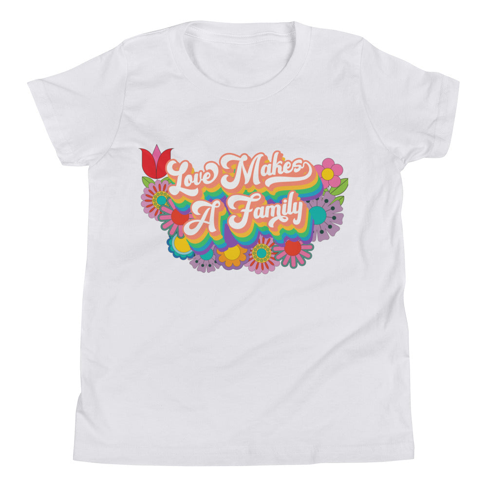 Love Makes A Family Youth T-Shirt