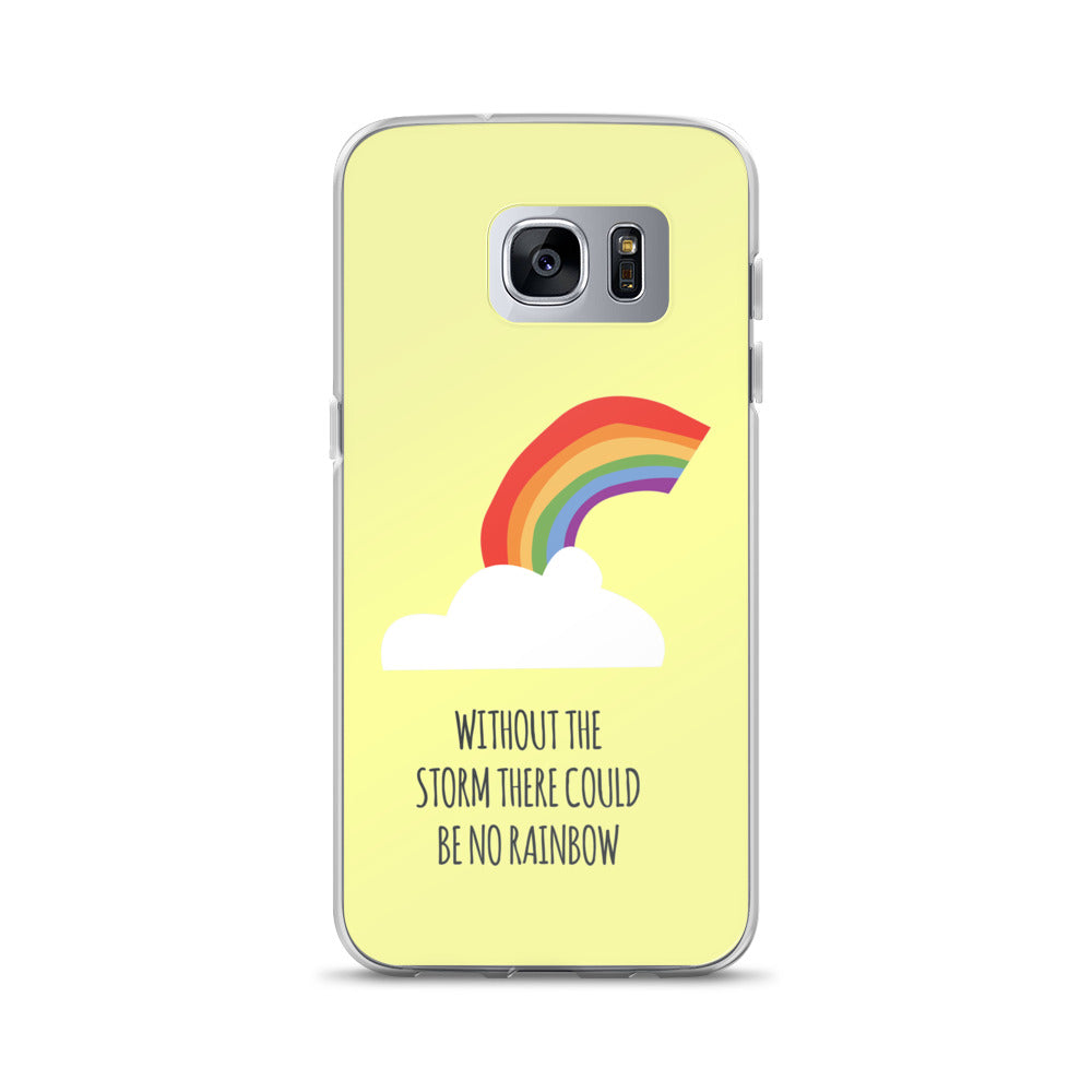 """Without The Storm There Could Be No Rainbow"" Samsung Case - Royal Rainbow"