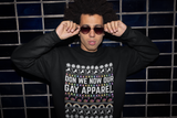 Don We Now Our Gay Apparel Fleece Sweatshirt Unisex - Royal Rainbow