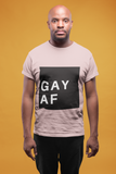 GAY AF Short-Sleeve T-Shirt - Royal Rainbow