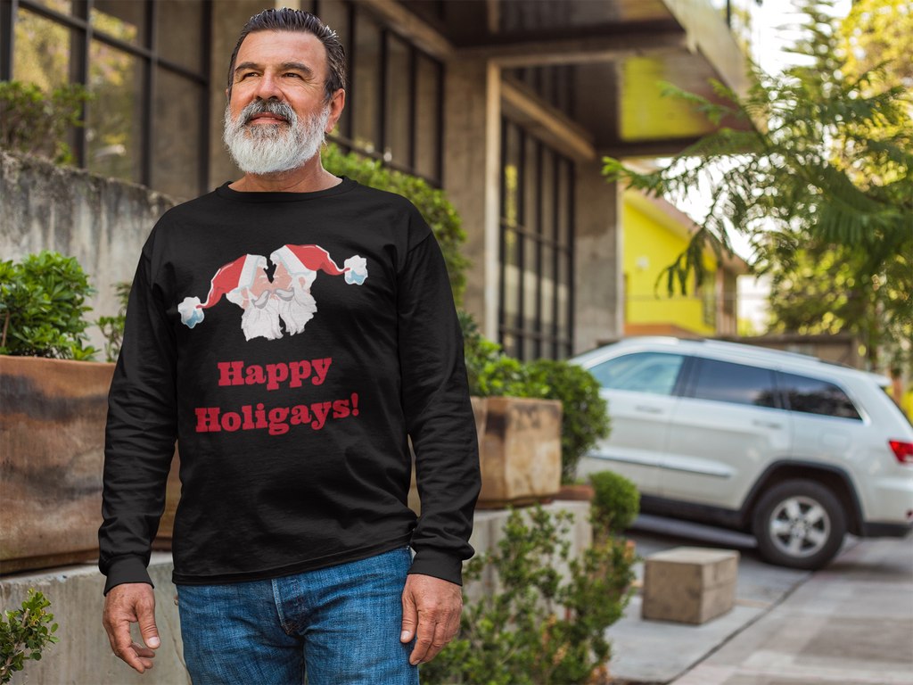 Happy Holigays! Long Sleeve T-shirt unisex - Royal Rainbow