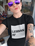 Lesbian AF Short-Sleeve T-Shirt - Royal Rainbow