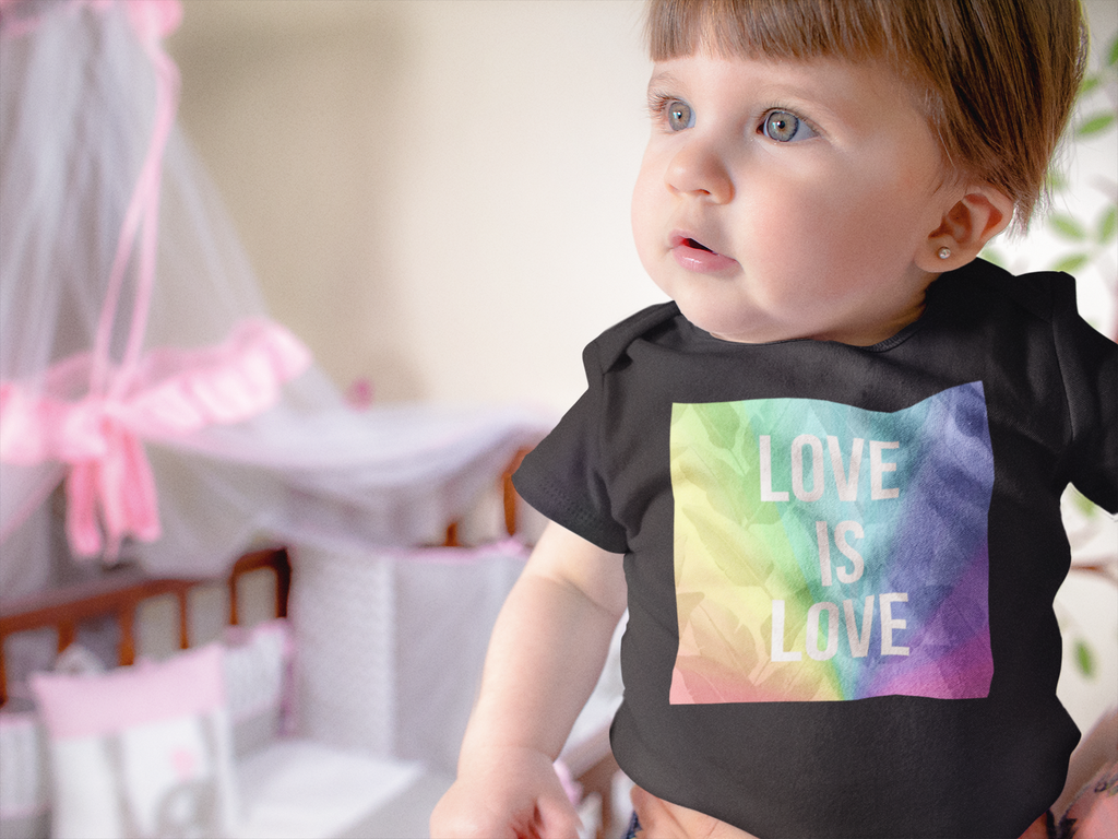 LOVE is LOVE Baby Onesie - Royal Rainbow