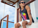 Rainbow Fist Classic Men's Tank Top - Royal Rainbow