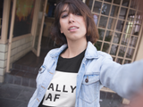 Ally AF Short-Sleeve T-Shirt - Royal Rainbow