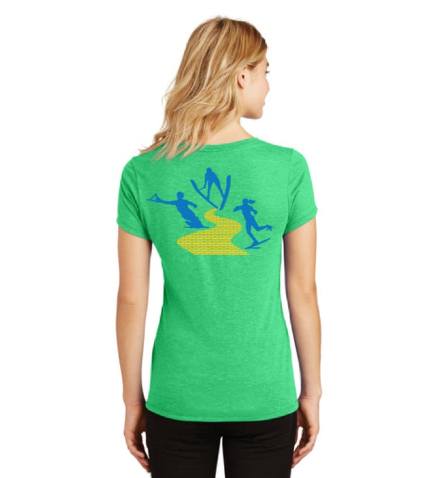 Ladies Short Sleeve V-neck T-shirt | Yellow Brick Rd