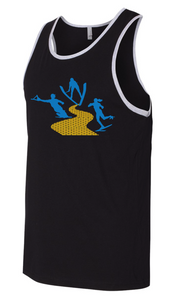 Men's Blended Jersey Tank | Heather Deep Charcoal / Black | Yellow Brick Road