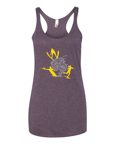 Ladies Next Level Triblend Racerback Tank | Vintage Purple | Twister