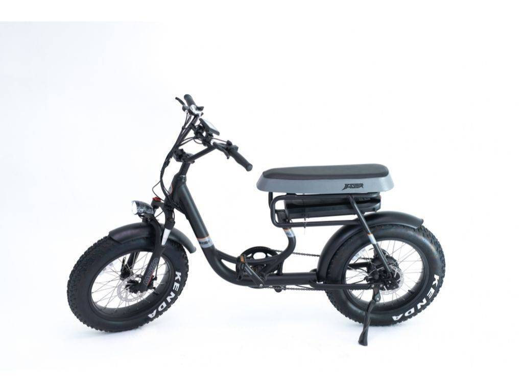 Black Green Bike Electric Motion Mule Electric Bike