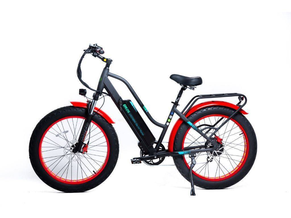 Black/Red Green Bike Electric Motion EM 26 Electric Bike
