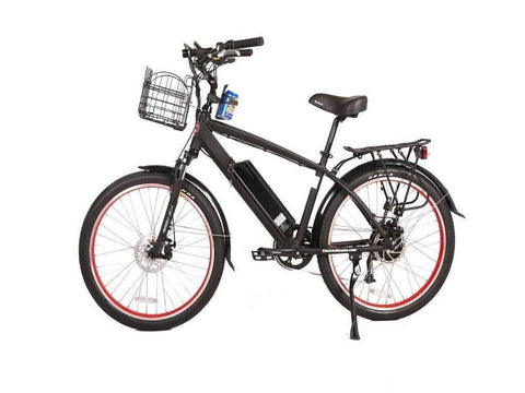 Black X-Treme Laguna Beach Cruiser 48 Volt Electric Bicycle