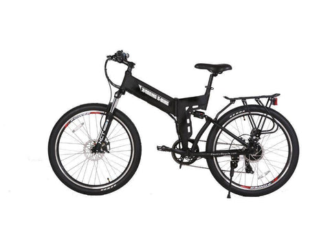 Black X-Treme X-Cursion Elite 24 Volt Electric Folding Mountain Bicycle