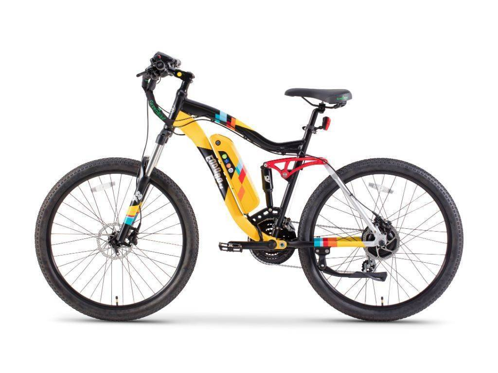 Black/Yellow Green Bike Electric Motion Enduro 48 Electric Bike