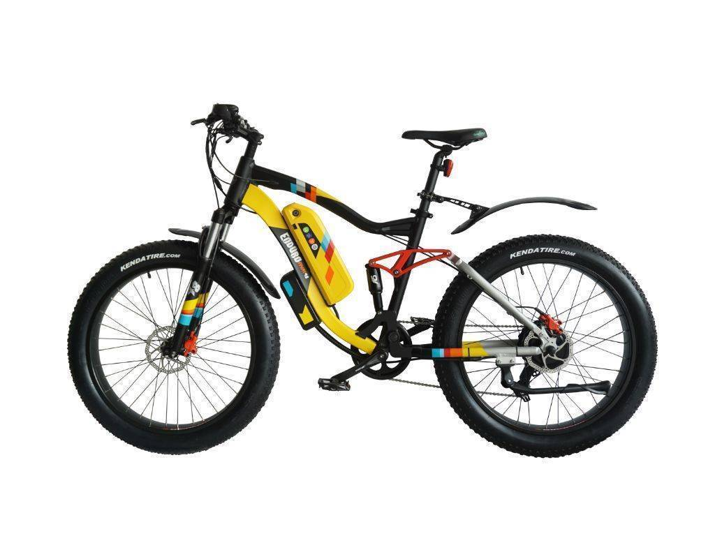 Black/Yellow Green Bike Electric Motion Enduro PHAT 48 Electric Bike