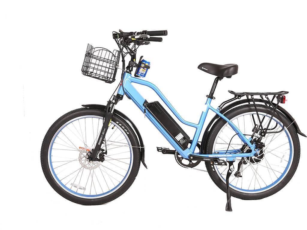 Blue X-Treme Catalina 48 Volt Electric Step-Through Beach Cruiser Bicycle