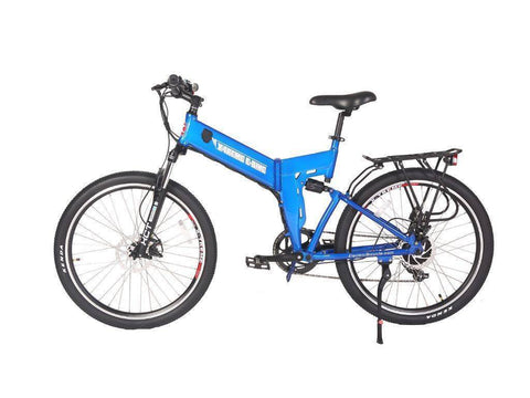 Blue X-Treme X-Cursion Elite 24 Volt Electric Folding Mountain Bicycle