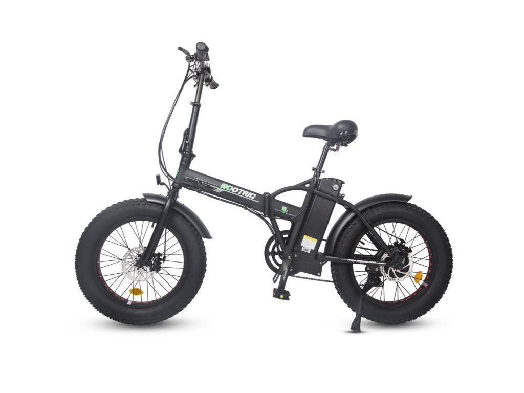 Matt Black Ecotric 48V Folding Fat Tire Electric Bike