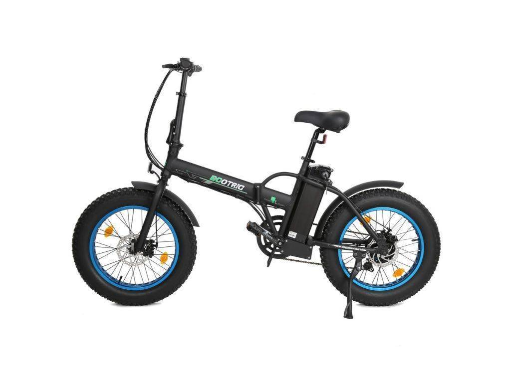 Matt Black Ecotric Fat Tire Folding & Portable Electric Bike