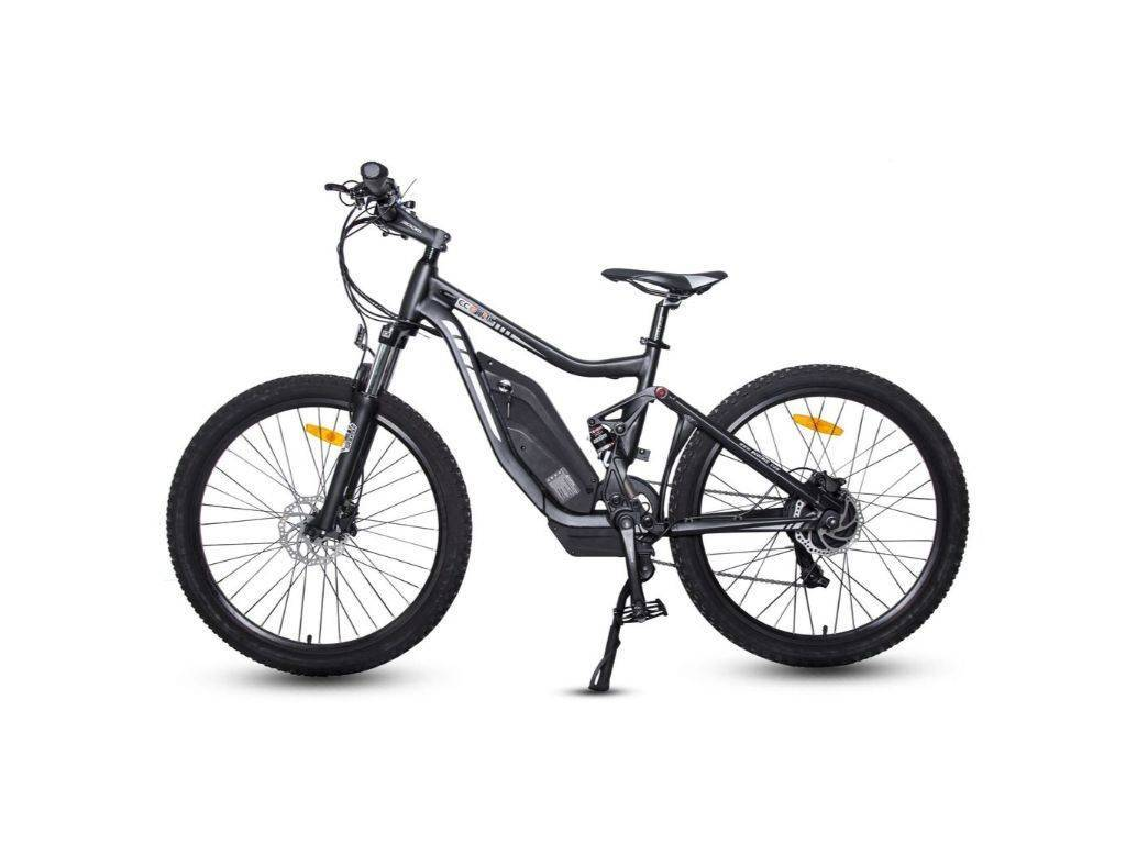 Matt Black Ecotric Tornado Full Suspension MTB Electric Bike