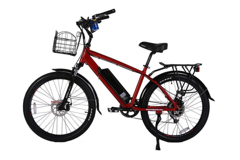 Red X-Treme Laguna Beach Cruiser 48 Volt Electric Bicycle