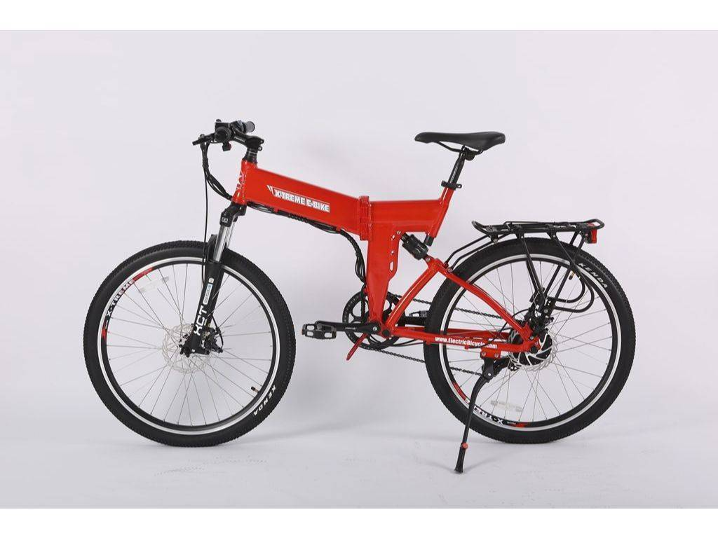 Red X-Treme X-Cursion Elite Max 36 Volt Electric Folding Mountain Bicycle
