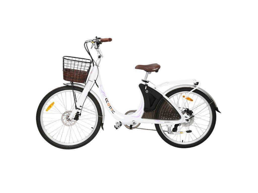 White Ecotric Lark Electric City Bike For Women