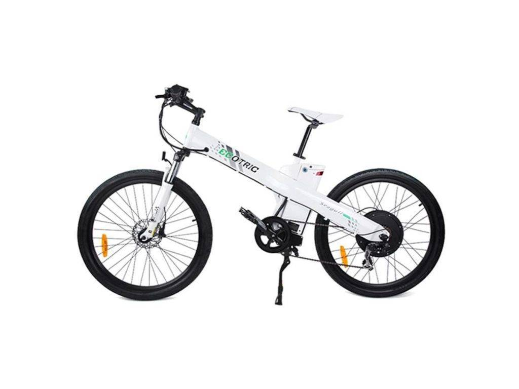 White Ecotric Seagull Electric Mountain Bicycle