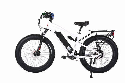 White X-Treme Rocky Road 48 Volt Fat Tire Electric Mountain Bicycle