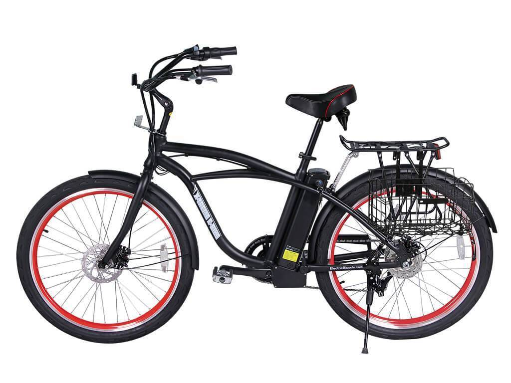 X-Treme Newport Elite Beach Cruiser Electric Bike - 24 Volt
