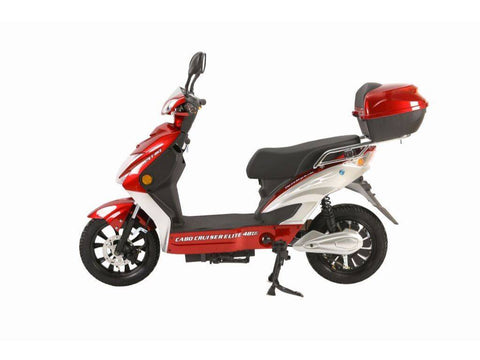 Image of Burgundy X-Treme Cabo Cruiser Elite 48 Volt Electric Bicycle Scooter