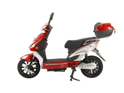 Burgundy X-Treme Cabo Cruiser Elite Max 60 Volt Electric Bicycle Scooter