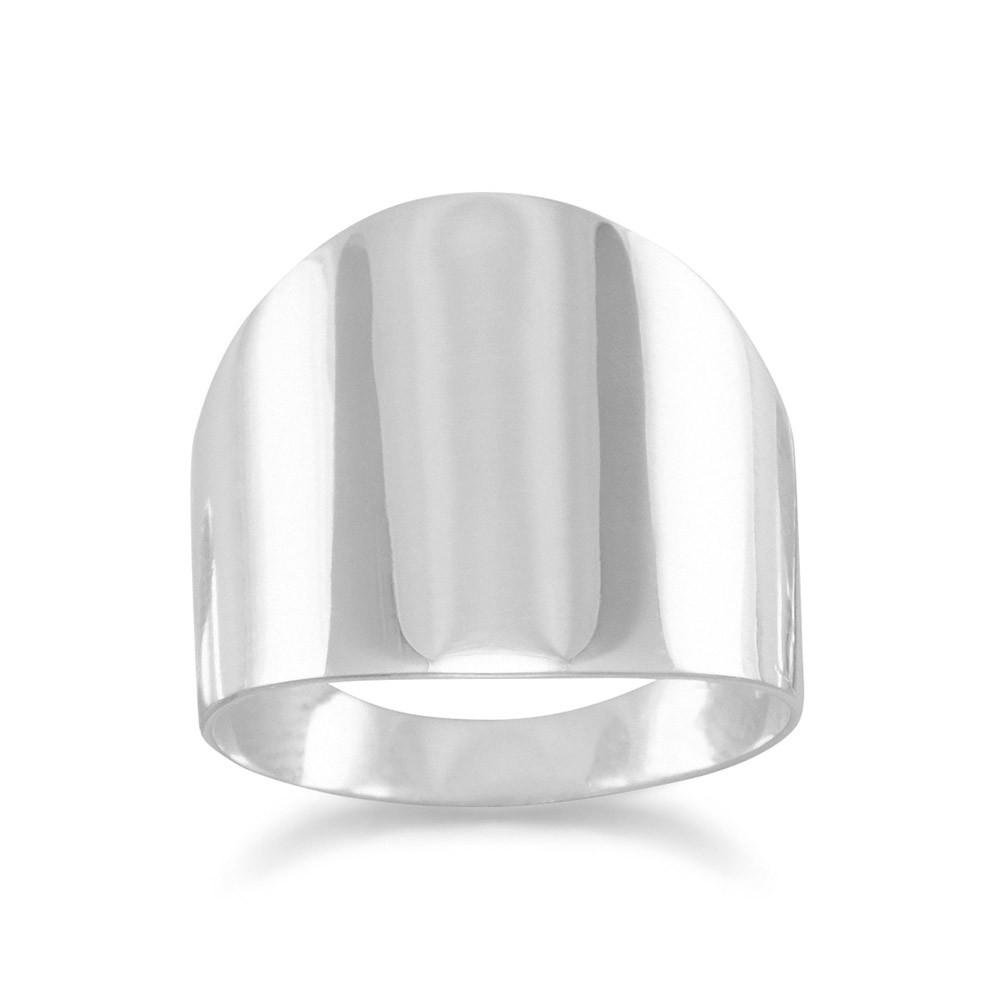 Plain Flat Cigar Band Ring