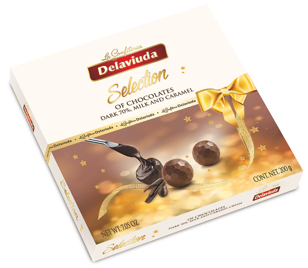 Chocolate Bonbons Three Flavour Gift Pack Delaviuda  200 g