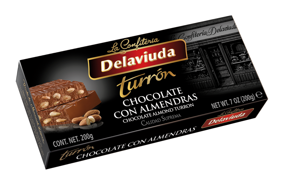 Delaviuda Chocolate Turron With Almonds 200 g