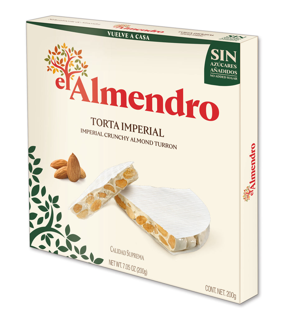 El Almendro No Sugar Added Round Crunchy Almond Turron 200 g