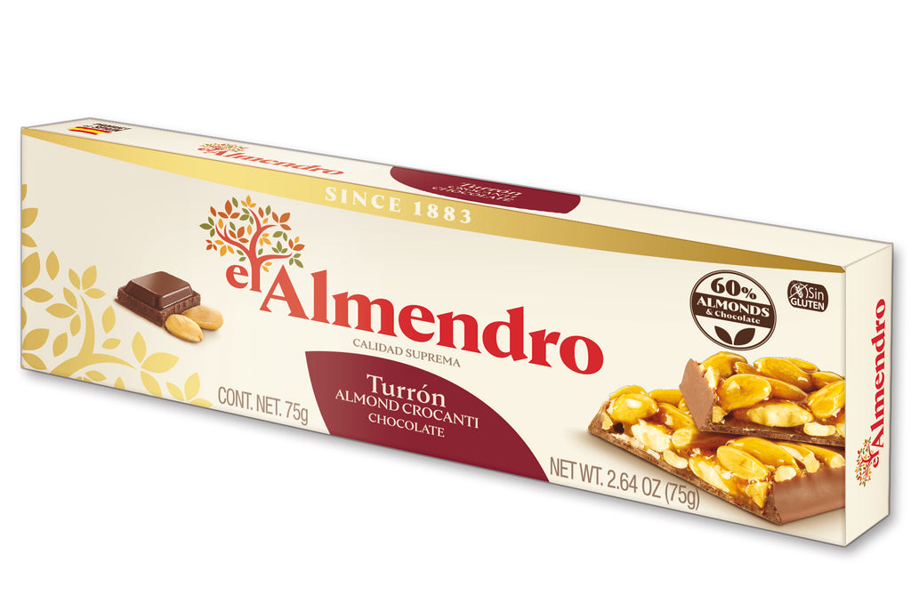 El Almendro Almond Caramel and Chocolate Turron 75 g