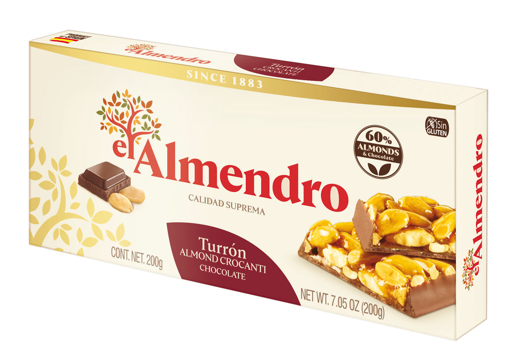 El Almendro Almond Caramel And Chocolate Turron 200 g