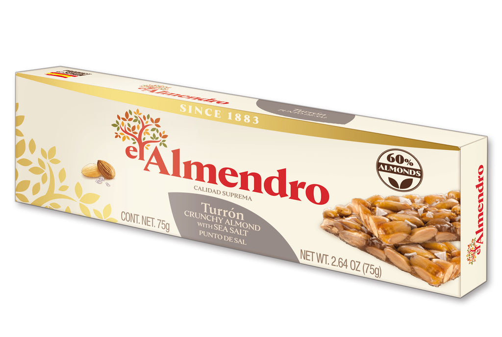 El Almendro Almond Turron With Sea Salt 75 g