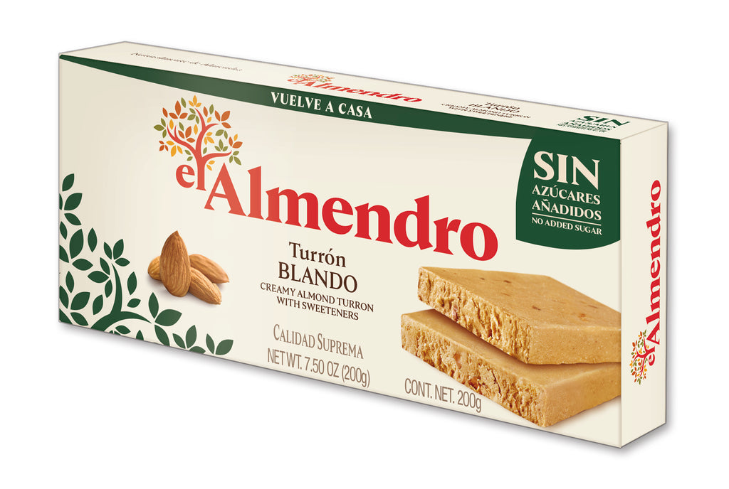 El Almendro No Sugar Added Creamy Almond Turron 200 g