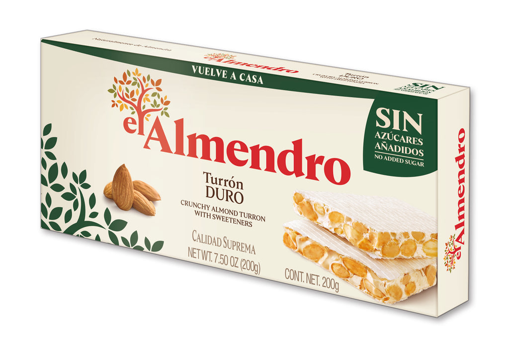 El Almendro No Added Sugar Crunchy Almond Turron 200 g