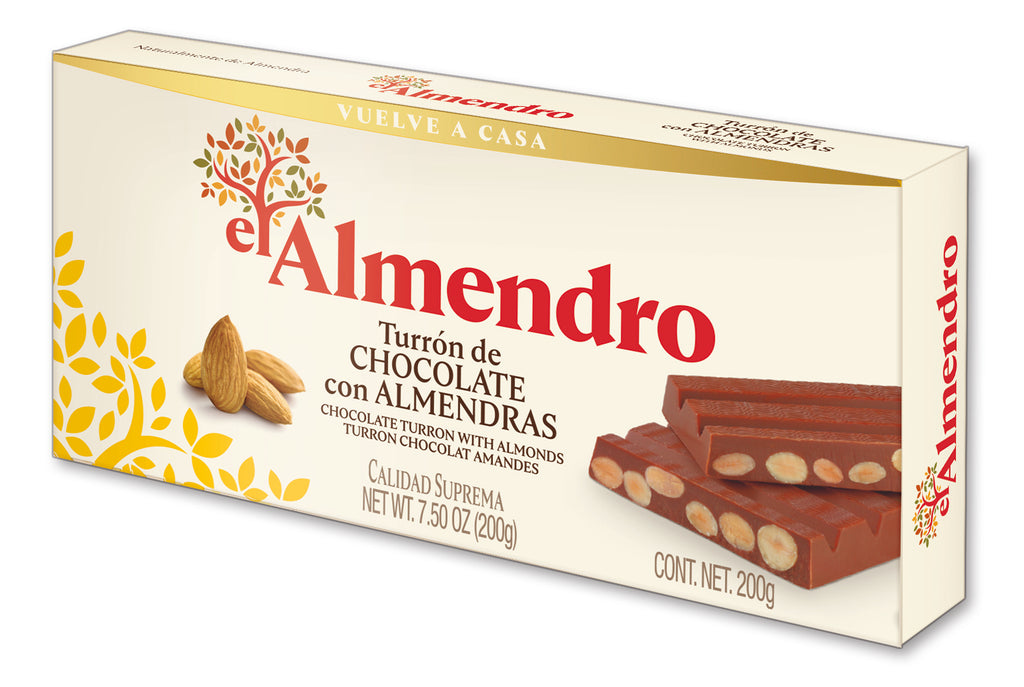 El Almendro Chocolate Turron With Almonds 200 g