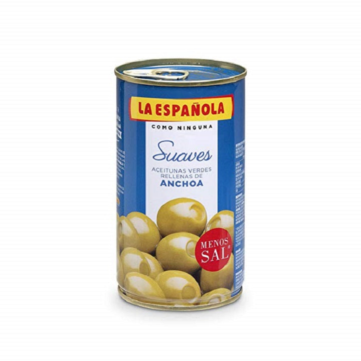 La Española Anchovy Stuffed Olives, 35% Less Salt 130 g