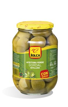 Jolca Green Gordal Olives With Pits 835 g